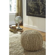 I have been looking for a pouf for extra seating during large gatherings #livingrooms #decor #ad