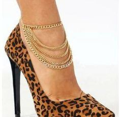 Six Layer Chain Anklet