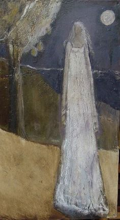 A detail from The Handless Maiden by the contemporary American painter Jeanie Tomanek.