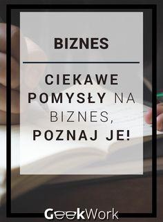 Chciałbyś otworzyć własny biznes ale nie masz na niego pomysłu ? Zajrzyj na mojego bloga gdzie wypisałem parę ciekawych pomysłów na biznes. #pomysły #biznes Just Me, Social Media, Business, Tips, Books, Projects, Shape, Therapy, Log Projects
