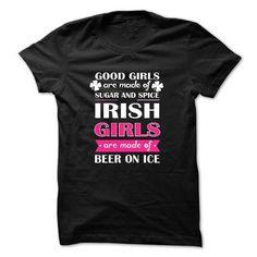 IRISH GIRL AND BEER Hot Trend T-shirts