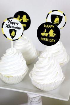 Car Themed Parties, Cars Birthday Parties, Birthday Party Decorations, Boy Party Favors, Birthday Party Invitations, Party In A Box, Car Party, Lamborghini, Race Car Birthday