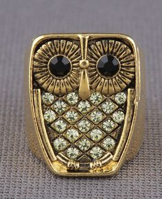 Zad Hoot Hoot Ring in Gold