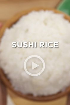 Sushi Rice is super easy to make at home! With just FOUR simple ingredients, the possibilities with this scrumptious Sushi Rice recipe are endless! Baked Sushi Recipe, Sushi Recipe Video, Cooked Sushi Recipes, Easy Rice Recipes, Making Sushi Rice, Best Sushi Rice, Making Sushi At Home, Sushi Bake, Cooking Sushi