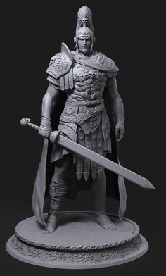 Zbrush Character, 3d Character, Character Concept, Concept Art, Character Design, Pantheon Lol, Inspiration Drawing, Vikings, Roman Warriors
