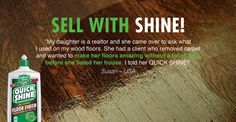 Selling your home? Your hardwoods should bring value and be a wow-factor to buyers! Quickly and cost-effectively restore their beauty with Quick Shine®. https://www.hollowayhouse.net/product/quick-shine-multi-surface-floor-finish/