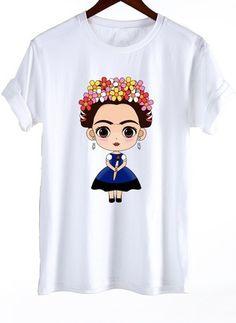47edd408f Camisetas Informal Personagem de Algodão Em torno do pescoço Manga curta