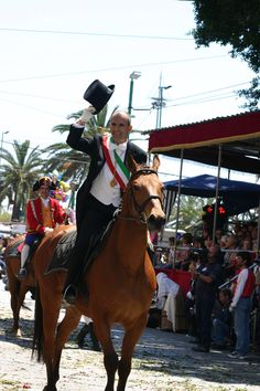 The alternos, representing the municipality during the great S. Efisio parade