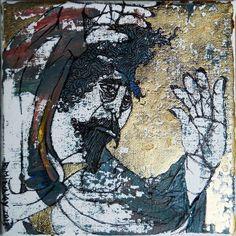 'Master T' Mixed Medium on canvas wide x high x deep Deep Art, Figurative, South Africa, Mixed Media, Fine Art, Contemporary, Stone, Medium, Canvas