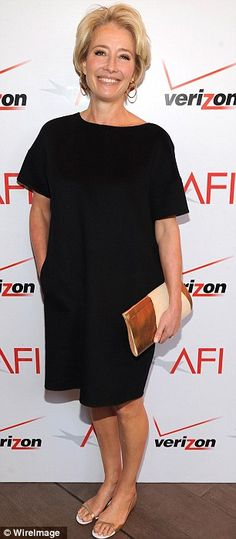 Classy and comfy...Emma Thompson looked stunning at the event dressed in a black ensemble.