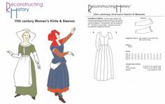 Flattering 15th century Kirtle pattern