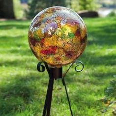 Gold Mosaic Gazing Ball