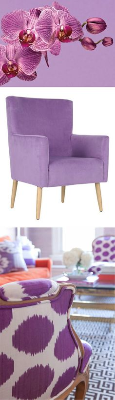 Armchair in #radiant_orchid purple :: #Pantone #Color of the Year 2014 // Yes I want this chair!