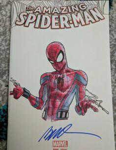 Humberto Ramos sketch of Spider-Man homecoming thwip thwip