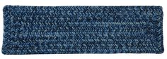 Catalina Indoor Outdoor Braided Rectangle Stair Tread, CA59 Blue Wave