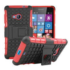 For Microsoft Nokia Lumia 535 Hybrid Kickstand Rugged Rubber Armor Hard PC+TPU With Stand Function Cover Cases Phone case