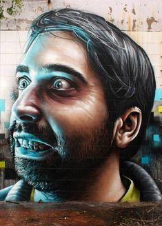 Street Art par Smug One : Impressionnants Portraits Hyper Réalistes
