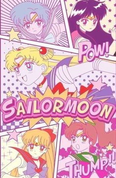 Sailor Moon & the Inner Sailor Scouts Sailor Moom, Arte Sailor Moon, Sailor Venus, Sailor Jupiter, Sailor Moon Crystal, Sailor Scouts, Sailor Moon Aesthetic, Aesthetic Anime, Poster Anime