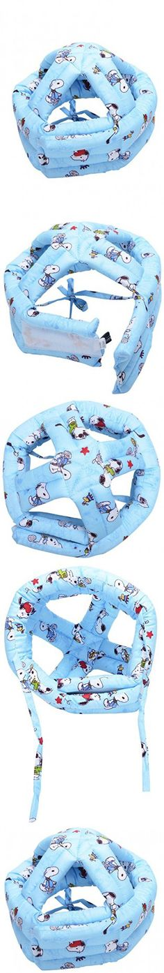 Simplicity Baby Safety Helmet Toddler Head Protection Cap Adjustable, Blue Dog