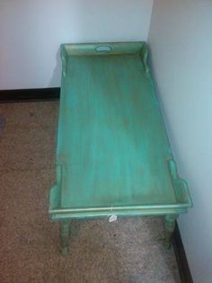 Asking 80 or best offer. I painted this coffee table in a coastal chic style. Antique aqua, and distressed. Www.thefancybubble.com