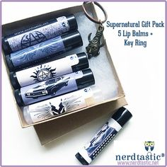 Supernatural inspired Gift Set 5 Lip Balms w by shopNerdtastic
