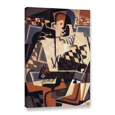 ArtWall Gris Juan's 'Harlequin with a Guitar,1917' Gallery Wrapped