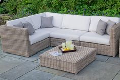 Kingsley Bate Sag Harbor Sectional Sunbrella Outdoor Furniture, Patio Furniture Cushions, Backyard Furniture, Garden Furniture Sets, Backyard Patio, Outdoor Sectional, Outdoor Areas, Terrazzo, Home Projects