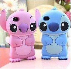 Silicone Disney Stitch 3D Case Cover Skin House For Apple iPhone 4 4G 4S