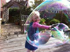 How to Make Bubble Solution and Bubble Wands