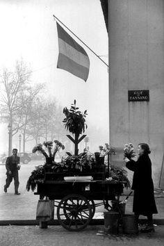 Les Champs Elysées - flowers street vendor Paris 1952 Henri Cartier-Bresson