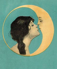 Illustration from the cover of Dear Old Dixie Moon songbook c. 1920