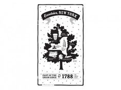 State Tea Towels by Vestiges