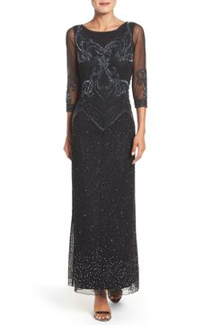 Pisarro Nights Embellished Mesh Dress available at #Nordstrom