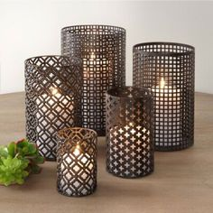Torie Metal Hurricane Assortment - Set of - The Home Depot Metal Lanterns, Candle Lanterns, Glass Candle, Pillar Candles, Candleholders, Diy Candle Holders, Candle Wall Sconces, Aesthetic Rooms, Burning Candle