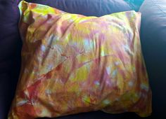 Tye dye pillow case I made last night, couldn't sleep!