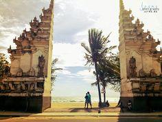 A beautiful Balinese entrance to Kuta Beach in Kuta, Bali, Indonesia. www.jayme.me
