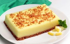 Cheerios* Lemon Dessert Recipe - This low-fat, refreshing dessert can also be cut into smaller pieces to make lemon squares.