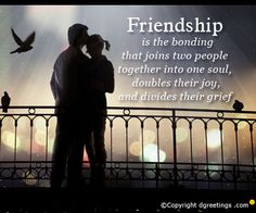 Beautiful friendship card for your friends.
