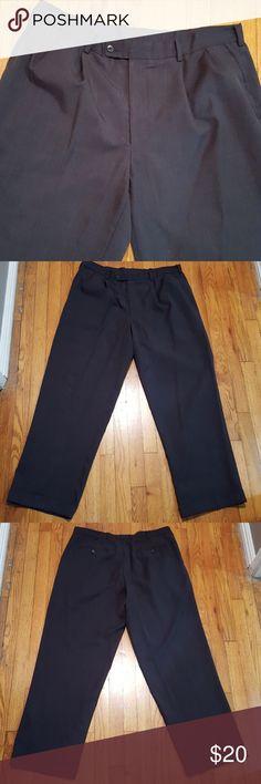 Perry Ellis Portfolio Classic Fit Slacks Dark gray, size 36Wx30L pleated front classic fit slacks with folded hems. Gently used. Perry Ellis Pants Dress