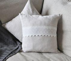 Linen Pillow Cover Throw Pillow Linen Throw by LillyandGraceDesign