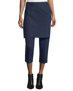 Cropped+Apron-Front+Pants,+Navy+by+3.1+Phillip+Lim+at+Bergdorf+Goodman.