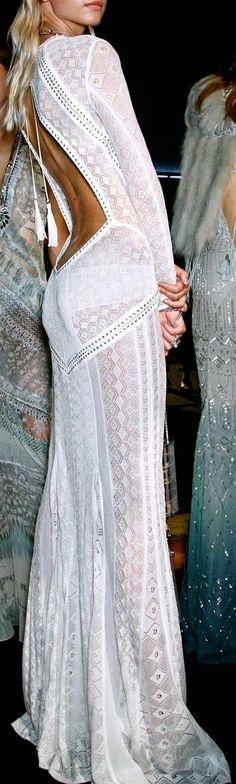 White backless long maxi dress fashion