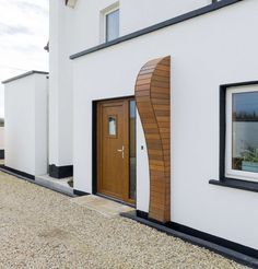 Extension to House Over 100 Years Old in New Ross, Wexford Timber Cladding, Big Kitchen, House Extensions, Old Houses, Curves, Doors, Building, Outdoor Decor, Projects