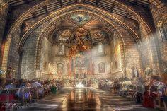 Ceremonia. Un momento mágico, sobre todo para los novios e invitados. Barcelona Cathedral, In This Moment, Beautiful, Rey, Building, Places, Landscapes, Painting, Travel