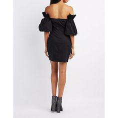 03a42429ff2f Ruffle-Trim Off-The-Shoulder Shift Dress Off Shoulder Outfits