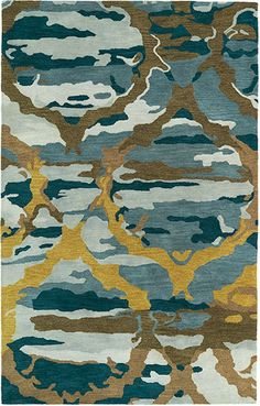 Modern Masters   Pop Art Rugs I   Brushstrokes BRS02-17 Blue Rug