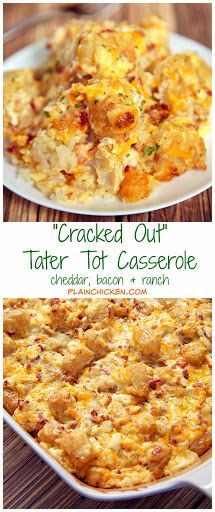 """""""Cracked Out"""" Tater Tot Casserole Recipe on Yummly. @yummly #recipe"""