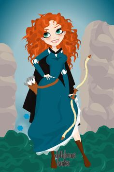 Merida ~ by bumblebeezie ~ created using the Pin Up Deluxe doll maker | DollDivine.com