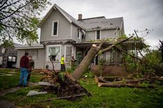 THURMAN, IA - APRIL 14:  People begin to pick up the pieces after the town was hit by an apparent tornado April 14, 2012 in Thurman, Iowa. The storms were part of a massive system that affected areas from Northern Nebraska south through Oklahoma. (Photo by Eric Francis/Getty Images) Photo: Eric Francis, Getty Images / 2012 Getty Images