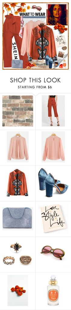"""SheIn Life Style"" by carola-corana ❤ liked on Polyvore featuring Wall Pops!, Artistica, Aquazzura, Impossible Project, PENHALIGON'S and vintage"